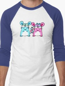 Mice In Love - A design by Perrin Men's Baseball ¾ T-Shirt