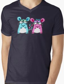 Mice In Love - A design by Perrin Mens V-Neck T-Shirt