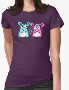 Mice In Love - A design by Perrin Womens Fitted T-Shirt