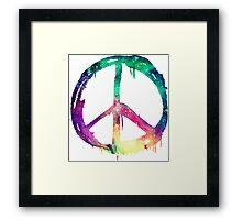 Galaxy Graffiti Peace Symbol Framed Print