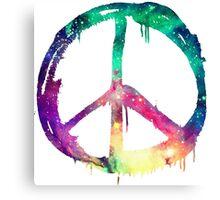 Galaxy Graffiti Peace Symbol Canvas Print
