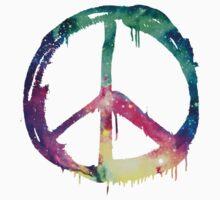 Galaxy Graffiti Peace Symbol Kids Tee