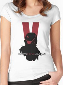 Deprived of all but pain Women's Fitted Scoop T-Shirt
