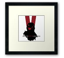Deprived of all but pain Framed Print