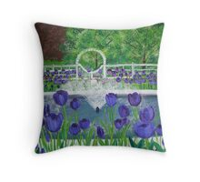 Tulip Garden Throw Pillow