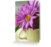 Happiness~~~ is a Cup Full of Daisies Greeting Card