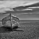 Beached in B&W by Geoff Carpenter