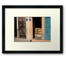 Construction materials and entrance Framed Print