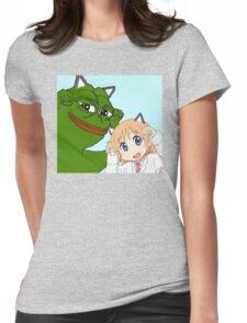 Kawaii Waifu Pepe Womens Fitted T-Shirt