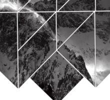 black and white mountain logo Sticker