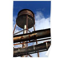 Old Textile Mill Water Tower Poster