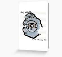 Staring at the Clock - Eye Greeting Card