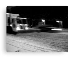 NYC Snowplow at Night Canvas Print