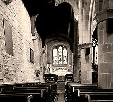 Hathersage Church at Hope Valley, Derbyshire by Elaine123