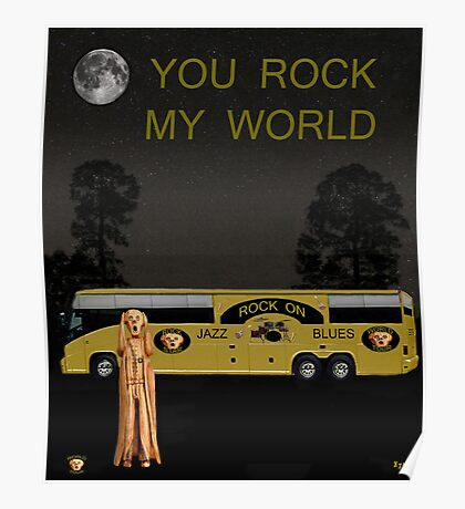 Scream Rock On Tour You Rock My World Poster