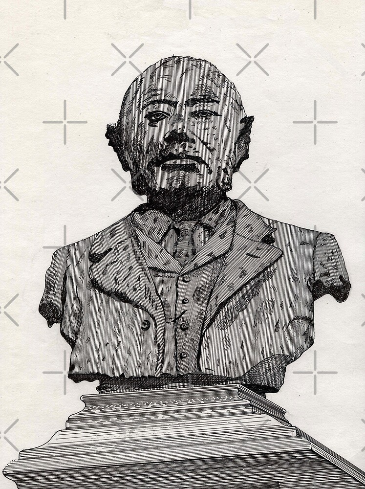 113 - MATTHEW WHITE RIDLEY STATUE - DAVE EDWARDS - INK - 1985 by BLYTHART