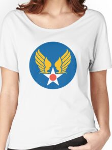 US Army Air Corps Hap Arnold Wings Women's Relaxed Fit T-Shirt