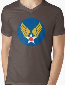 US Army Air Corps Hap Arnold Wings Mens V-Neck T-Shirt