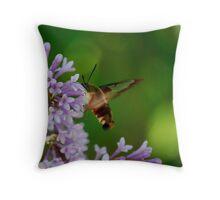 Hummingbird Moth on the Lilacs Throw Pillow