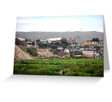 Homes by the dump Greeting Card