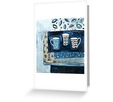 cups in conversation Greeting Card