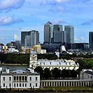 Canary Wharf From Greenwich by John Hare