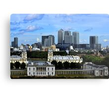 Canary Wharf From Greenwich Metal Print