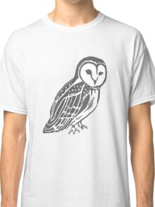 Grey and White Barn Owl Classic T-Shirt