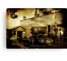 Pumping Gas Canvas Print