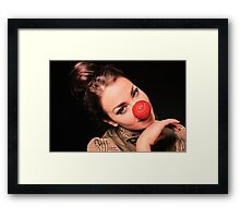More red nose shoot Framed Print