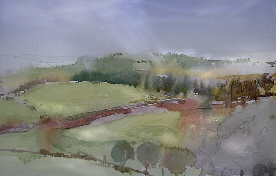 The Misty Hills of Perthshire by Peter Lusby Taylor