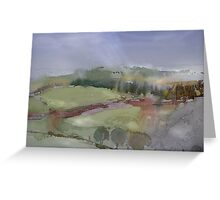 The Misty Hills of Perthshire Greeting Card