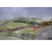 The Misty Hills of Perthshire Photographic Print