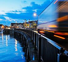 speeding truck. ross bridge penzance by mikalo