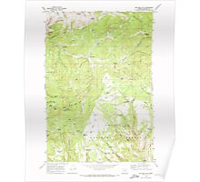 USGS Topo Map Oregon Big Rock Flat 279031 1969 24000 Poster