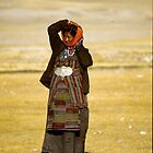 Young Tibetan woman by Marion Joncheres