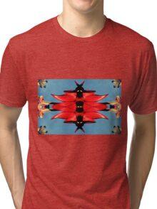 Retro Sturt Desert Pea Tri-blend T-Shirt