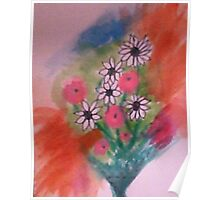 Let My Flowers Bring Back That Smile!   watercolor Poster