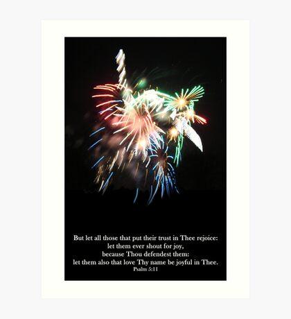 Be joyful in Thee Art Print