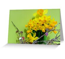 Family Of Dafodils Greeting Card