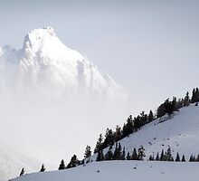 The Grand Teton - Floating Over Hansen Peak by A.M. Ruttle