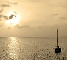 Anguilla sunset 3 by Leon Heyns