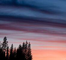 Cascade Sunset # 4 by OrPhotoJohn