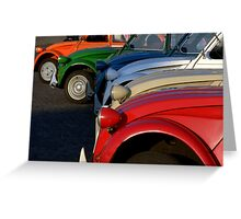 Paris - 6 x 2CV Citroen Greeting Card