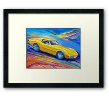 Corvette Stingray 1970 Framed Print