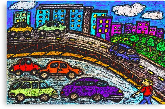 Outer City Traffic by Monica Engeler