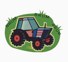 Tractor Time, BRUM BRUM BRUM! One Piece - Short Sleeve