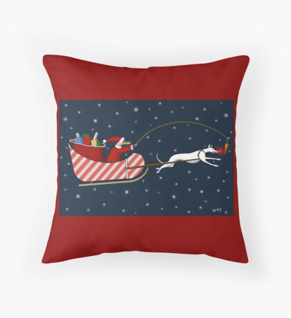 Santa Paws & Roo-dy Throw Pillow