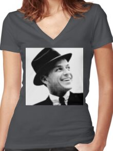 Frank Sinatra Women's Fitted V-Neck T-Shirt