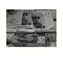 And the news today is....... Art Print